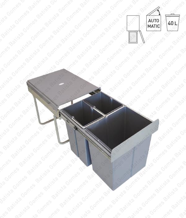 Batista Gomes - BL.3102 - Balde para lixo extraível - Porta lateral - Mód. 400 - Automático - 40L