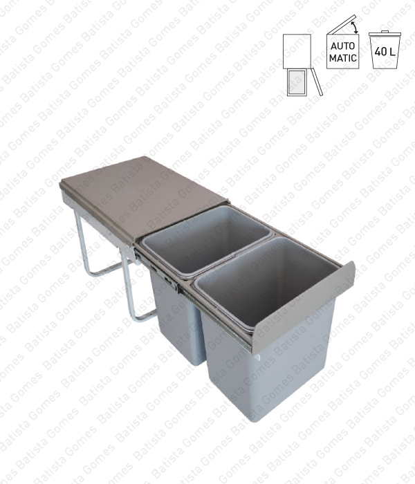 Batista Gomes - BL.3104 - Balde para lixo extraível - Porta lateral - Mód. 400 - Automático - 40L