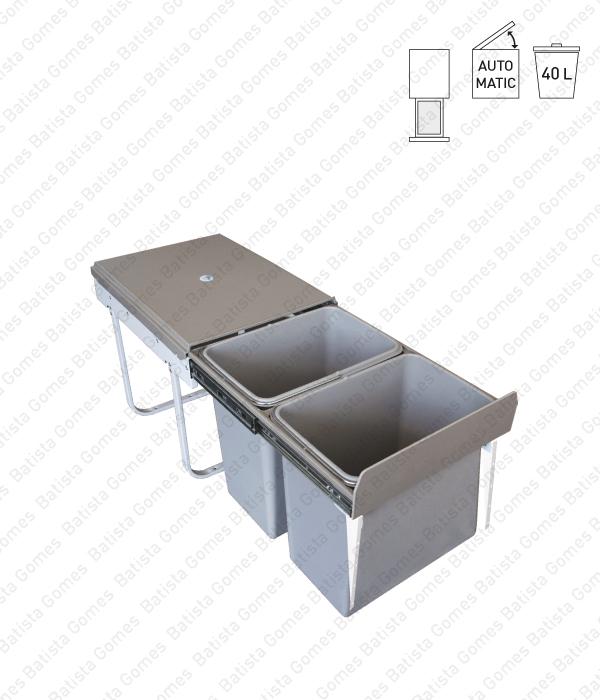 Batista Gomes - BL.3105 - Balde para lixo extraível - Porta frontal - Mód. 400 - Automático - 40L