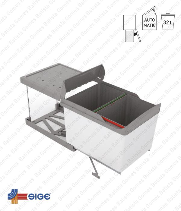 Batista Gomes - BL.520 | SIGE - Balde para lixo extraível - Porta lateral - Mód. 450 - Automático - 32L
