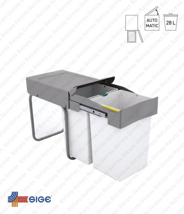 Batista Gomes - BL.530 | SIGE - Balde para lixo extraível - Porta lateral - Mód. 300 - Automático - 28L