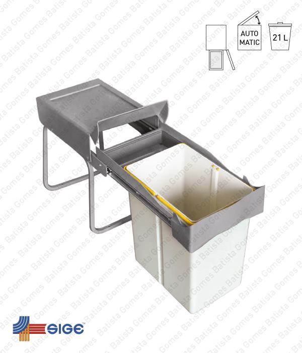 Batista Gomes - BL.540 | SIGE - Balde para lixo extraível - Porta lateral - Mód. 300 - Automático - 21L