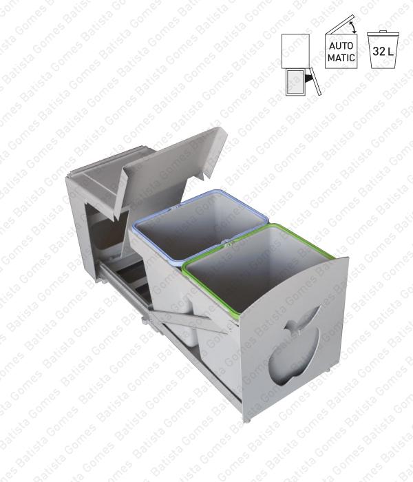 Batista Gomes - BL.580 - Balde para lixo extraível - Porta lateral - Mód. 400 - Automático - 32L