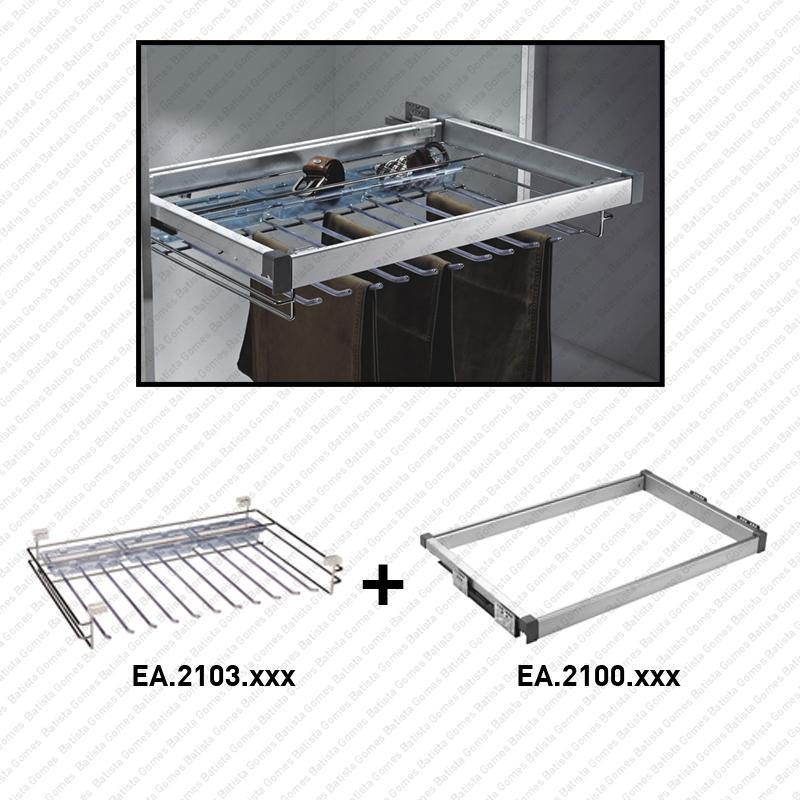 Batista Gomes - EA.2103 / EA.2100 - Cabide para calças - SC SQUARE CLOSET