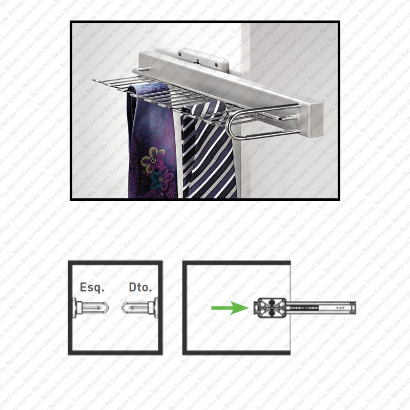 Batista Gomes - EA.2110 - Cabide para gravatas - SC SQUARE CLOSET