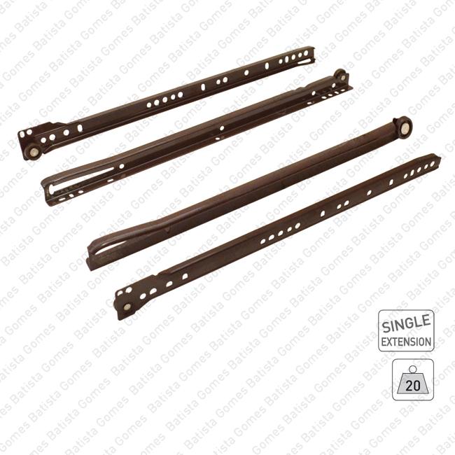 Corrediças para gavetas - LOW COST Series / Extração parcial / 20Kg
