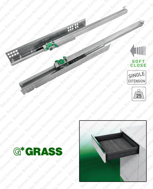 Batista Gomes - DYNAMOOV TA - COR.7000 - GRASS - Corrediças ocultas com Soft-Close para gavetas / Extração parcial / 25kg