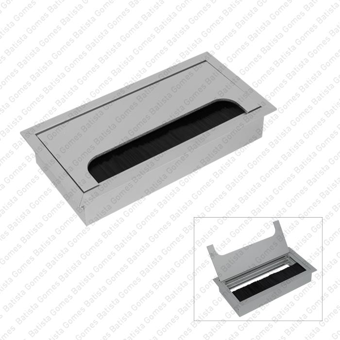Batista Gomes - PC.365.150 - Passa cabos em alumínio para mesas