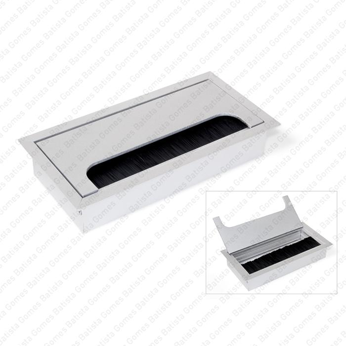 Batista Gomes - PC.365.160 - Passa cabos em alumínio para mesas