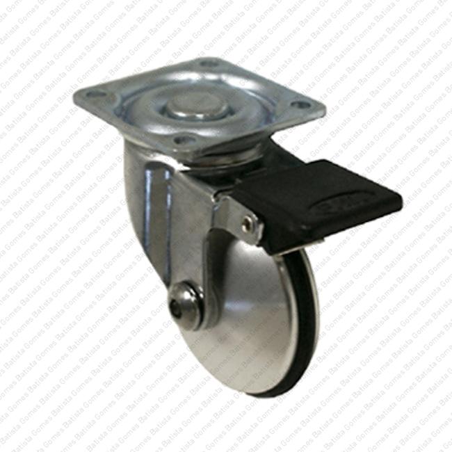 Batista Gomes - R.151 - Roda giratória com travão Ø51 - Alumínio