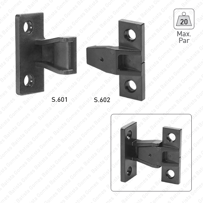 Batista Gomes - S.601 / S.602 - Suportes conectores de painel AGL