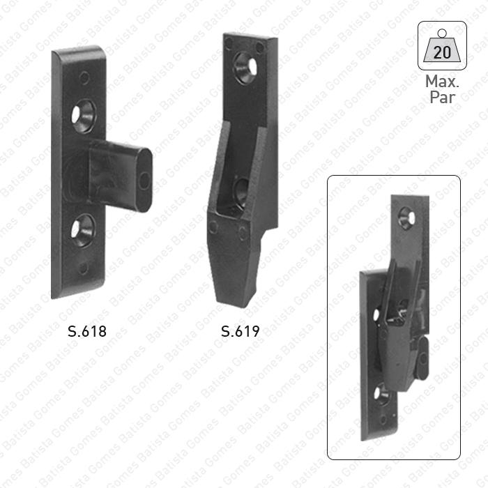 Batista Gomes - S.618 / S.619 - Suportes conectores de painel AGL