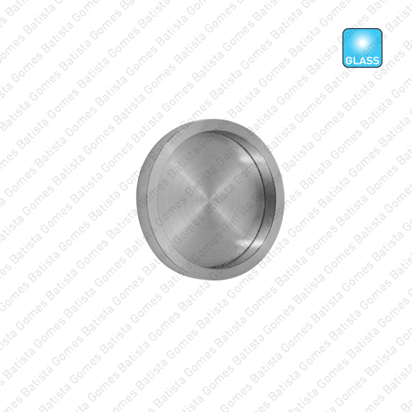 Batista Gomes - CE.IN.8527 - Puxador concha plana Ø65 / Ø100 para portas vidro ou madeira - INOX