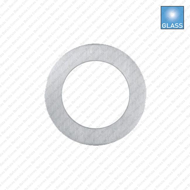 Batista Gomes - CE.IN.8676A - Puxador concha plana Ø70x6 para porta vidro ou madeira - INOX