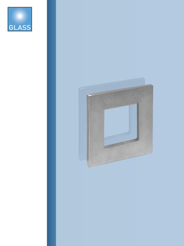 Batista Gomes - CE.IN.8677A - Puxador concha plana quadrada para porta vidro ou madeira - INOX
