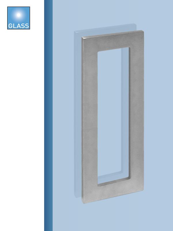 Batista Gomes - CE.IN.8678A - Puxador concha plana rectangular para porta vidro ou madeira - INOX