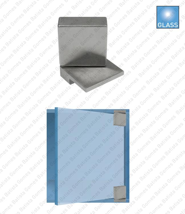 Batista Gomes - DV.902 - Par dobradiças para vitrine - Vidro / vidro