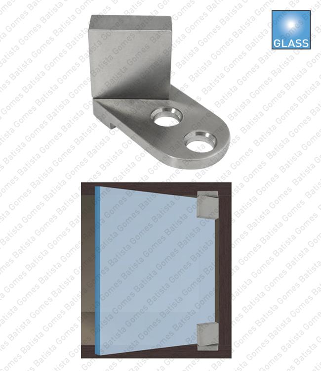 Batista Gomes - DV.903 - Par dobradiças para vitrine - Vidro / madeira