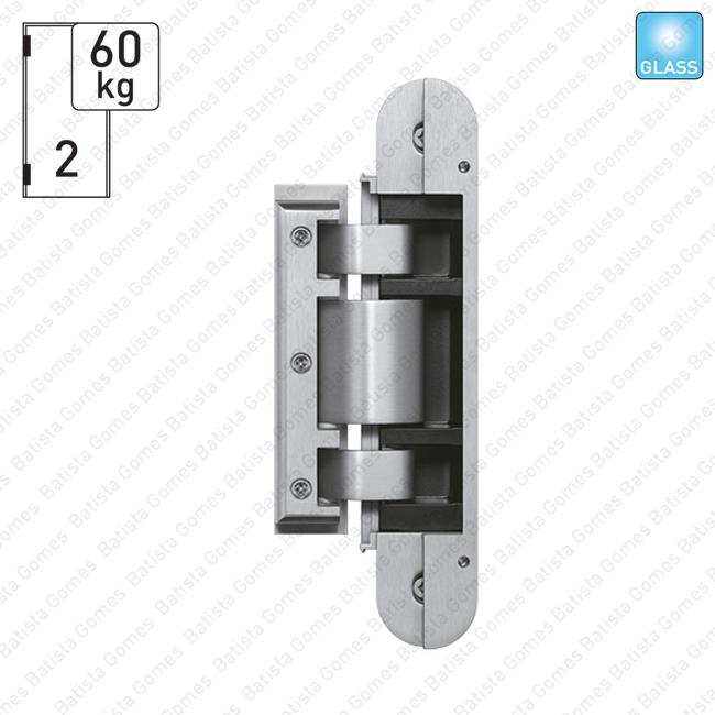 Batista Gomes - DV.TEG.310.2D Simonswerk - Dobradiça para vidro TECTUS GLASS 2 D - Carga 60Kgs (2 Dobradiças)