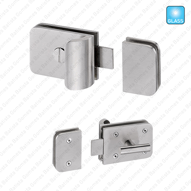 Batista Gomes - FXV.8502 - Fecho para portas WC em vidro