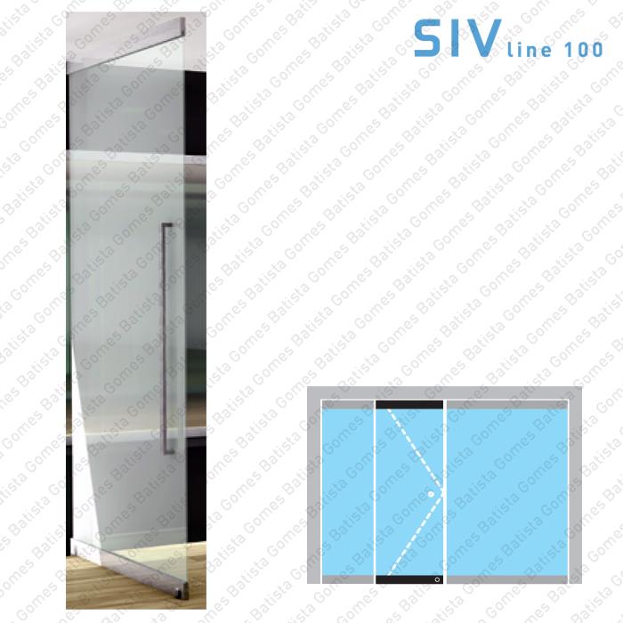 Batista Gomes - SIV.155 / SIV.156 - Conjunto pivot superior + inferior - Portas em vidro