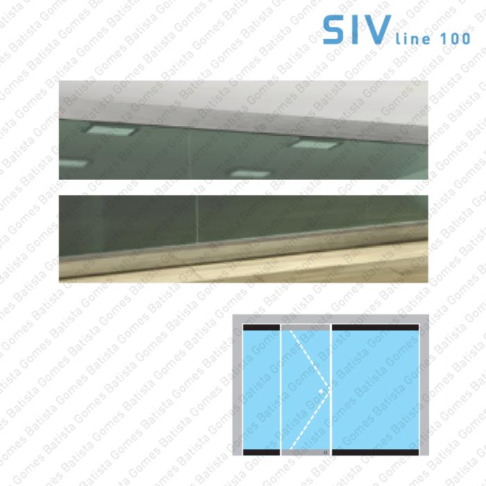 Batista Gomes - SIV.157 - Conjunto pivot superior + inferior - Vidro fixo