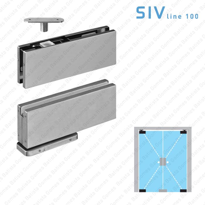 Jogo pivot hidráulico - Portas em vidro