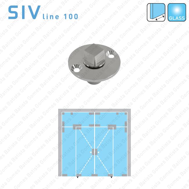 Batista Gomes - SIV.105 - Pivot inferior/pavimento - Portas em vidro de batente e vai-vem