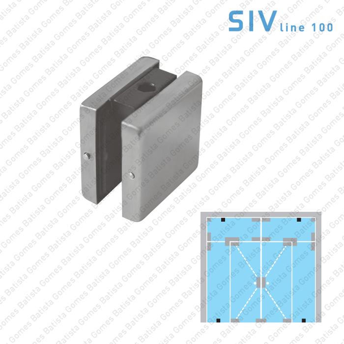 Batista Gomes - SIV.112 - Fixador simples - Portas em vidro