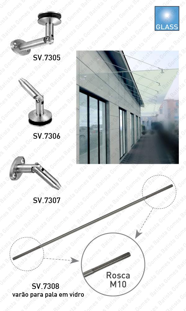 Batista Gomes - SV.7305 / SV.7306 / SV.7307 / SV.7308 - Sistema de fixação para palas em vidro