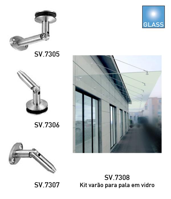 Batista Gomes - SV.730x - Sistema de fixação para palas em vidro