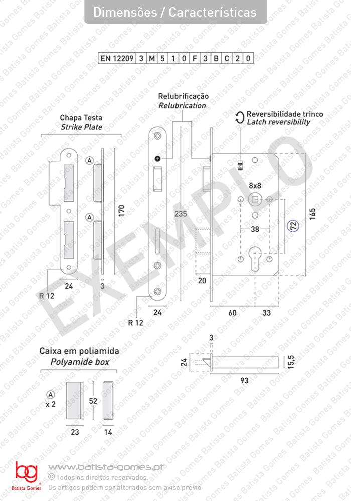Batista Gomes - Dimensões / Características - Dimensões / Características