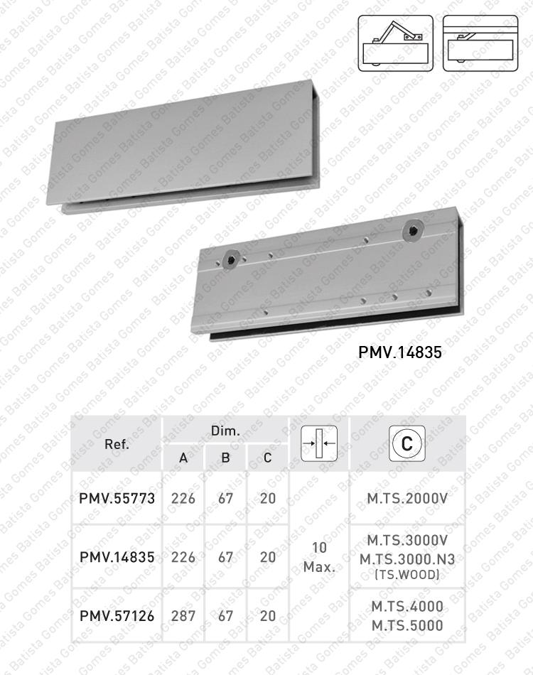 Batista Gomes - PMV.XXX - Pinças para montagem de molas aéreas em portas de vidro