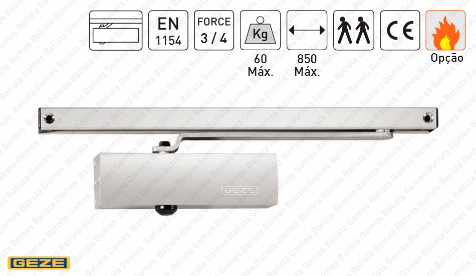 Batista Gomes - M.TS.1500G | GEZE - Mola aérea com braço guia deslizante - GEZE - Força 3/4 / 60Kg / 850mm