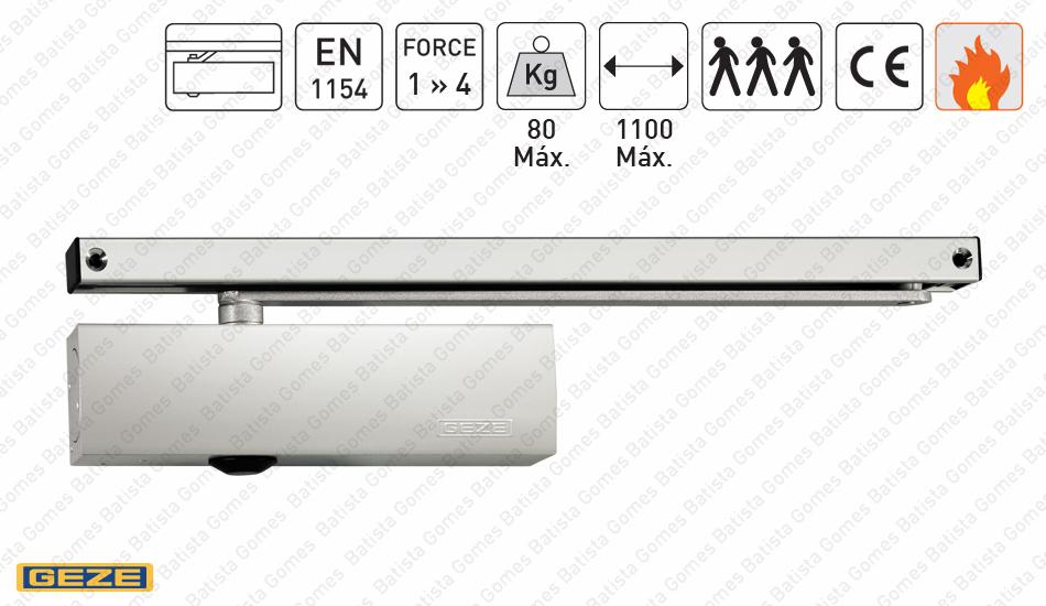 Batista Gomes - M.TS.3000V - Mola aérea com braço guia deslizante - GEZE - Força 1 » 4 / 80Kg / 1100mm