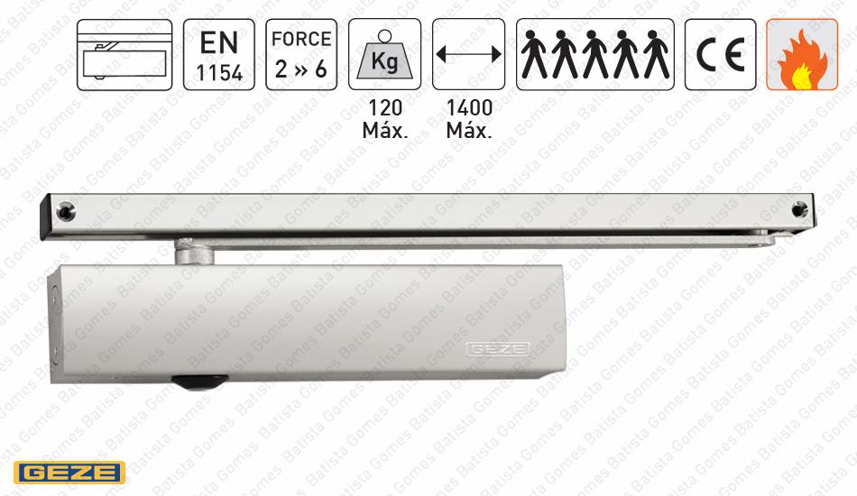 Batista Gomes - M.TS.5000 - Mola aérea com braço guia deslizante - GEZE - Força 2 » 6 / 120Kg / 1400mm
