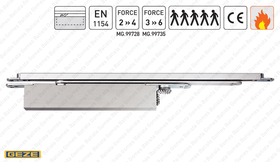 Batista Gomes - BOXER - MG.99728 / MG.99735 | GEZE - Mola oculta para portas de batente ou vai-vem