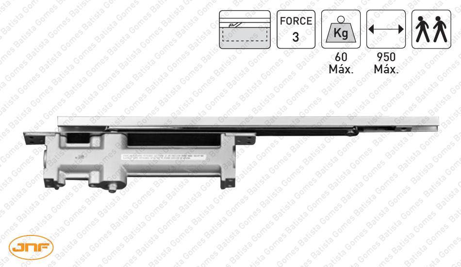 Batista Gomes - MA.802.F3 | JNF - Mola aérea oculta para portas de batente