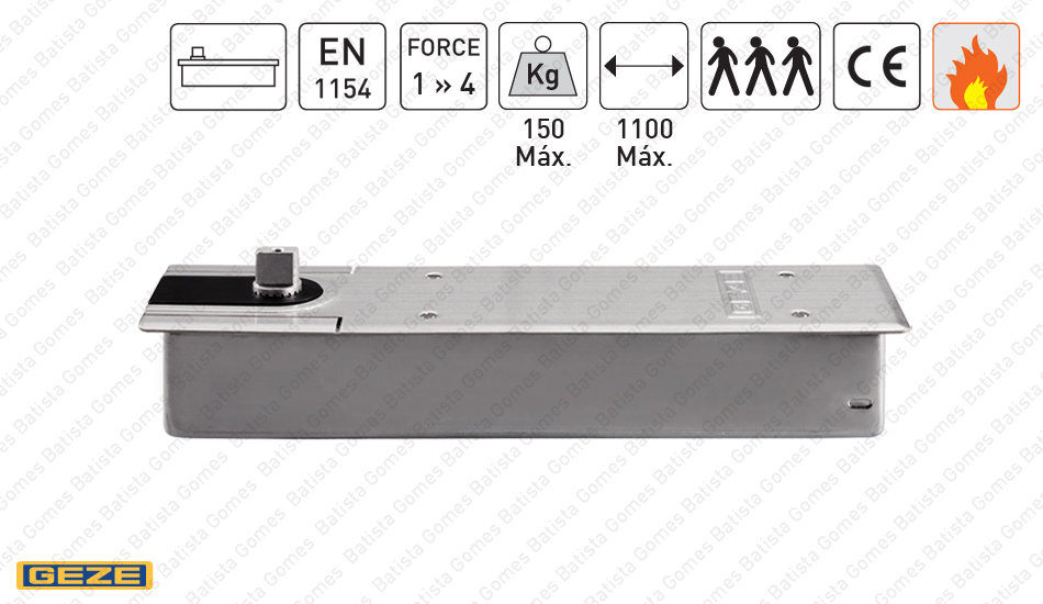 Batista Gomes - M.TS.500.NV - Mola pavimento para portas até 150Kg / 1100mm