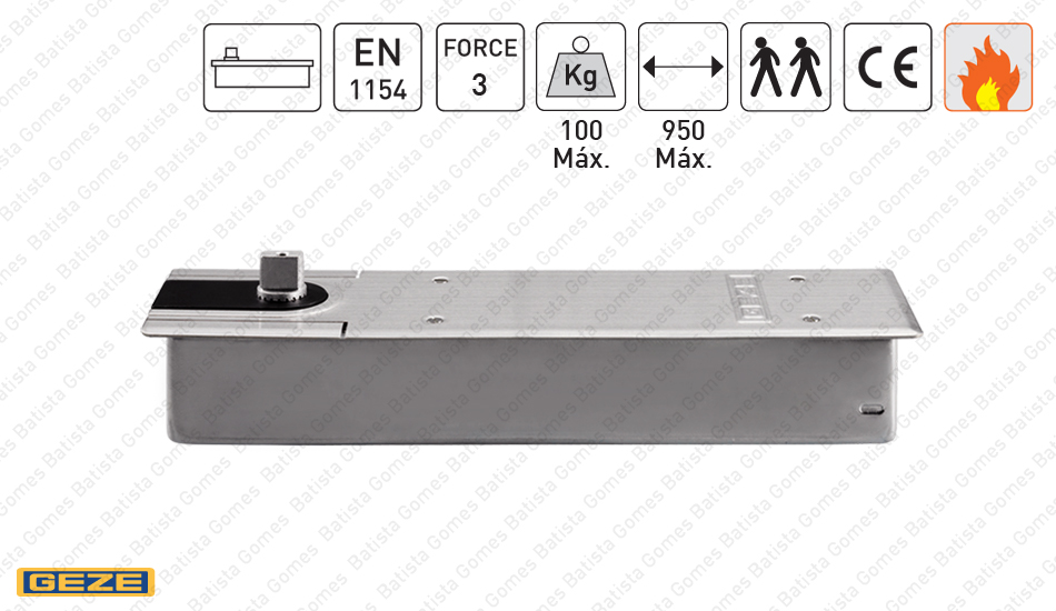 Batista Gomes - M.TS.500.N.EN3 - Mola pavimento para portas até 100Kg / 950mm