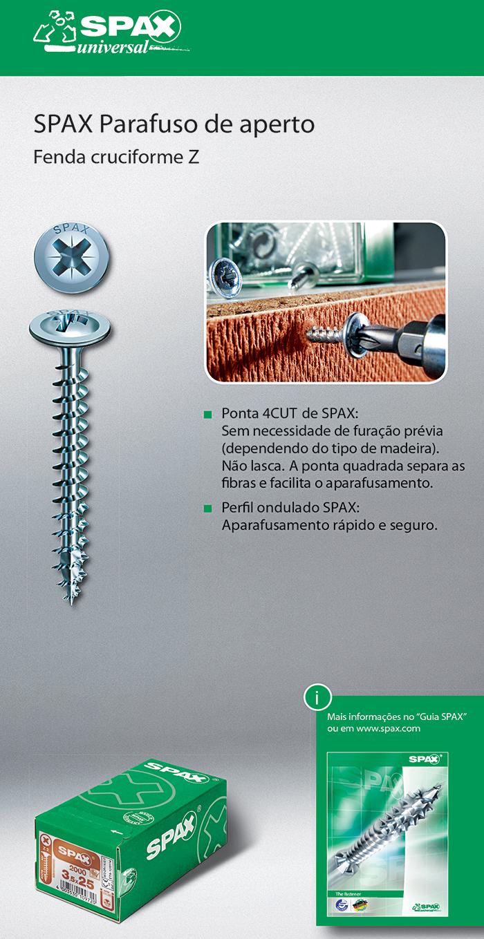Batista Gomes - SPAX Parafuso de aperto - Fenda cruciforme Z