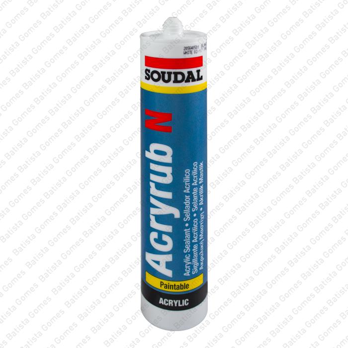 Batista Gomes - ACRYRUB N - Selante adesivo acrílico plasto-elástico pintável