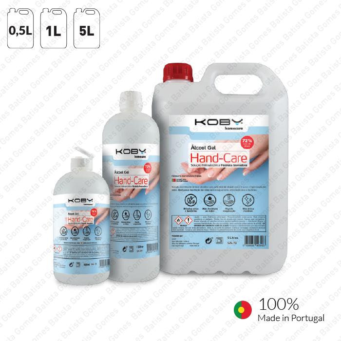 Álcool Gel HAND-CARE - 0,5L / 1L / 5L