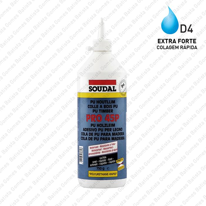 Batista Gomes - PRO.45P - Cola poliuretano para madeira - D4 - Ultra rápida