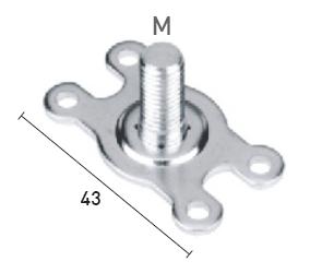 Batista Gomes - BP.FR - Base com rosca M8 para fixação puxador fixo - AÇO