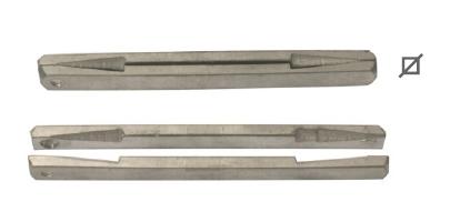 Batista Gomes - CAV.ER - Ferro quadrado elástico com rasgo Q.8 - AÇO