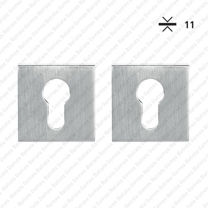 Batista Gomes - ENT.5051.EY - ENT.5051.EY - KIT - Jogo de entradas de chave para cilindro quadradas Q.52x11mm - BG Collection