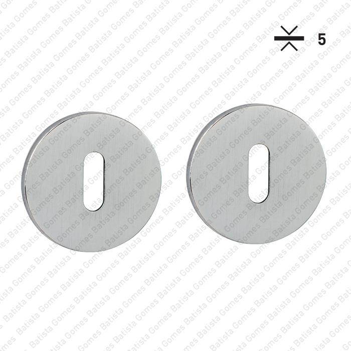 Batista Gomes - ENT.5053.EN - KIT - Jogo de entradas de chave normal redondas Ø52x5mm - BG Collection