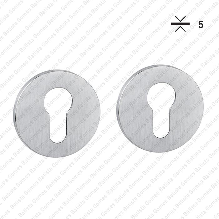 Batista Gomes - ENT.5053.EY - KIT - Jogo de entradas de chave para cilindro redondas Ø52x5mm - BG Collection