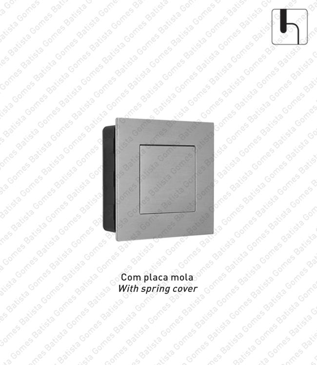 Batista Gomes - CE.IN.8900 - Concha de embutir com tampa de mola Q.50 - INOX